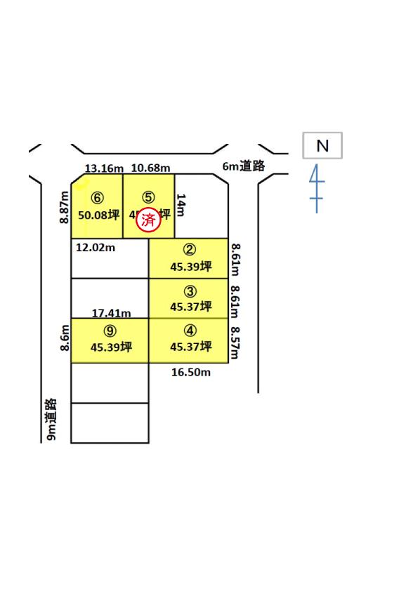 金沢市直江東2丁目分譲地