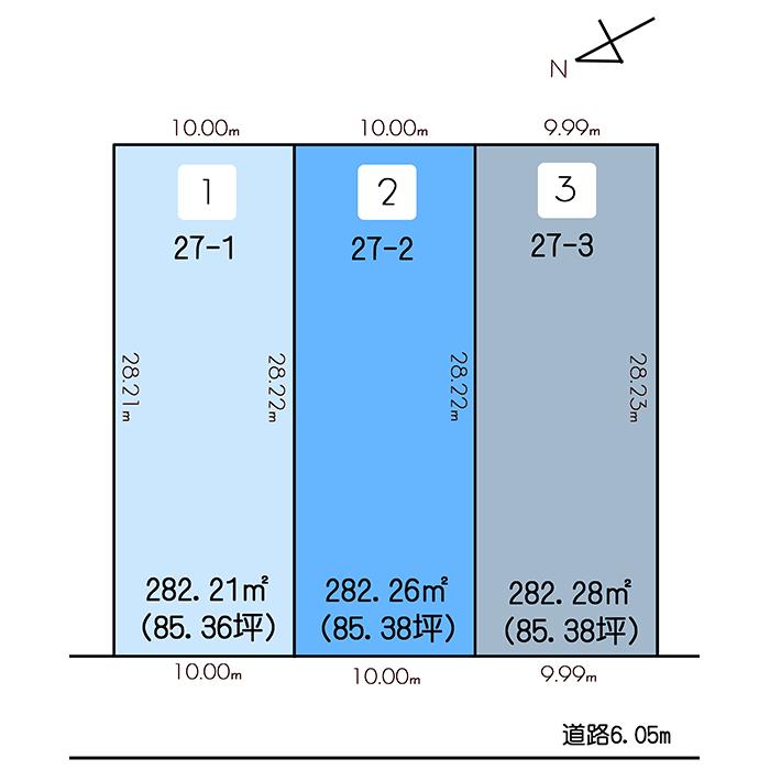 小松市南浅井町2区画図