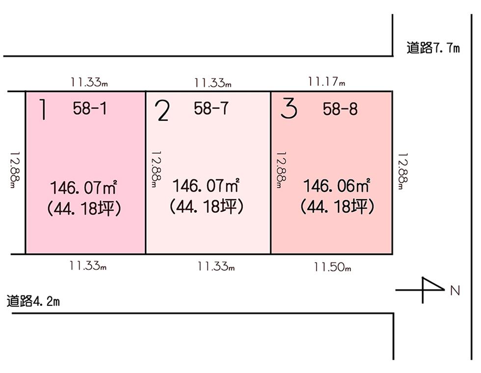 小松市白江町3区画図