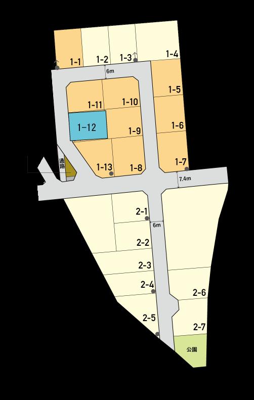 富山市向新庄1-12区画図