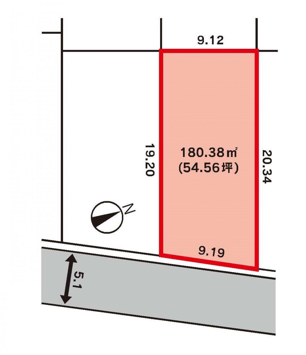 高岡市角三島区画図