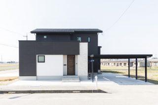 黒×白シンプルスタイリッシュな外観の家|富山・石川の新築・注文住宅ならオダケホーム